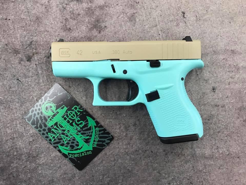 Glock 42 (H-175 Robins Egg Blue, H-247 Desert Sage)